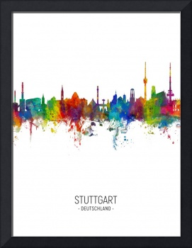 Stuttgart Germany Skyline