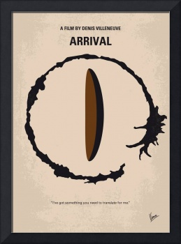 No735 My Arrival minimal movie poster