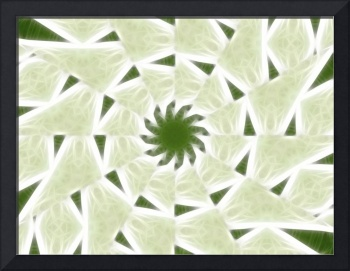 Green White Kaleidoscope Art 2