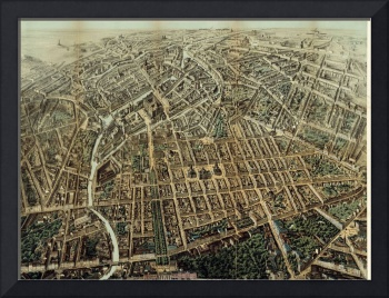 Vintage Map of Berlin Germany (1871)