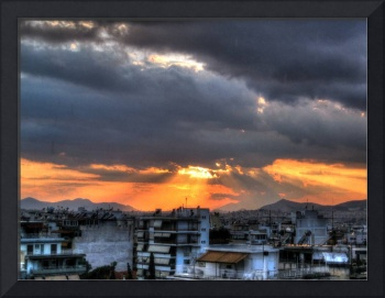 Colorful sky HDR
