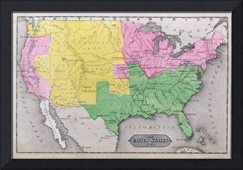 Map of the United States in 1861