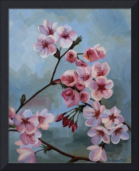 """Cherry blossom (Sakura)""  Oil, Canvas.  16""X20"""