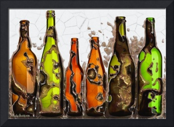 Bottles, of which you are wrong. 2012 80/56 cm.