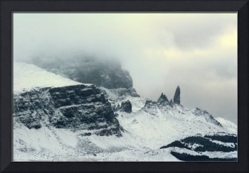 The Old Man of Storr in Snow
