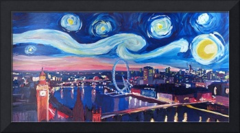 Starry Night in London - Van Gogh Inspirations wit