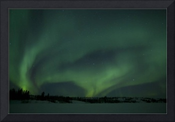Active Aurora over Vee Lake Yellowknife Northwest
