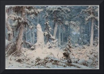 Snowy Forest, 1835, Andreas Achenbach