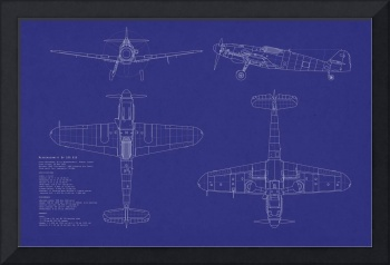 Messerschmitt ME109 blueprint