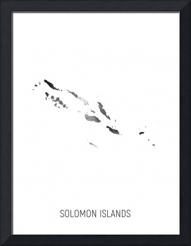 Solomon Islands Watercolor Map