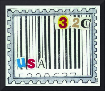 USA stamp - 32 cents - UPC code