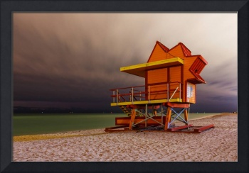 24th Street Lifeguard Tower at Night
