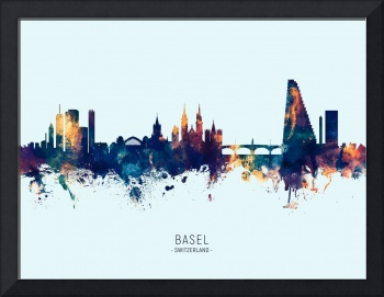 Basel Switzerland Skyline