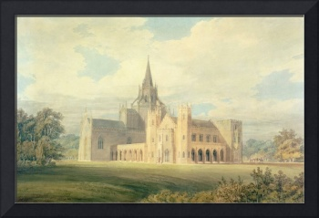 Perspective View of Fonthill Abbey from the South