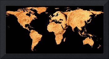 World Map Silhouette - Bales of Hay