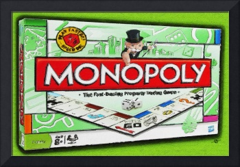 Monopoly Board Game Painting