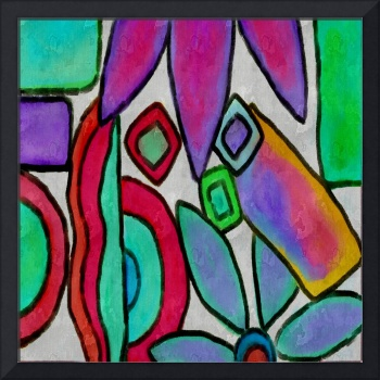 Colorful Abstract Digital Painting