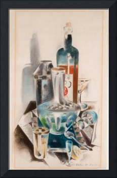 Preston Dickinson~Decanter and Bottles