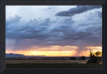 Fort Collins Colorado Sunset Lightning Storm