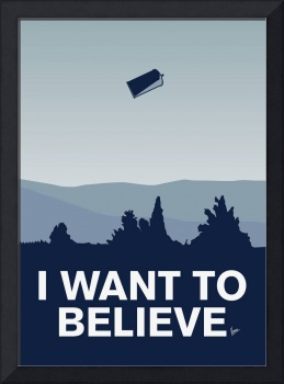My I want to believe minimal poster-tardis