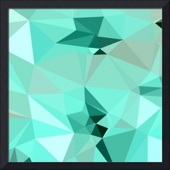 Caribbean Green Abstract Low Polygon Background
