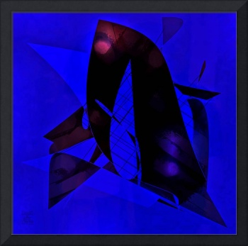 Blue Black Abstract