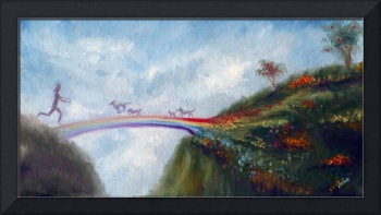 Rainbow Bridge Crossing into Animal Heaven Violano