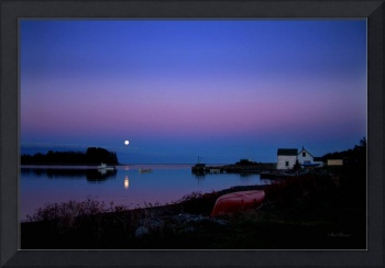 Moonrise, Cooks Cove, Nova Scotia - Nov 5, 2006
