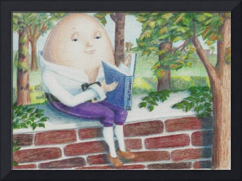 Humpty Dumpty Reads on the Wall