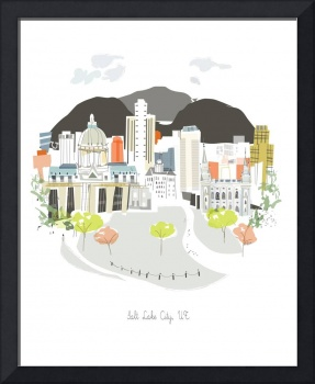 Salt Lake City Modern Cityscape Illustration