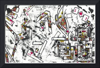 Abstract Card Design Drawing