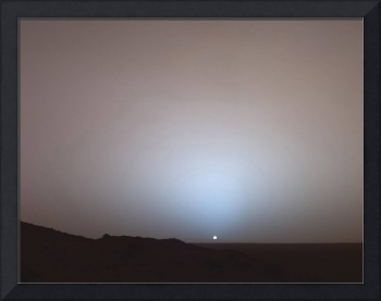 Sunset Sinking Below Gusev Crater on Mars