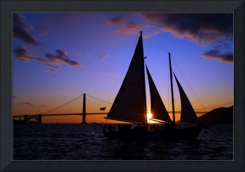 Schooner Sunset on the Bay