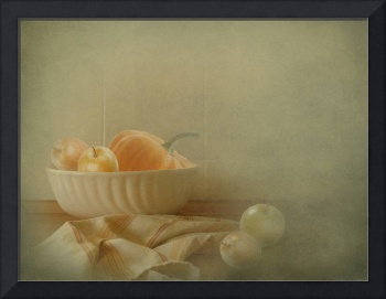 Apples and Pumpkins still-life