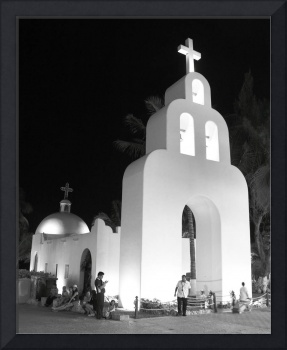 Church at Night in Playa Del Carmen