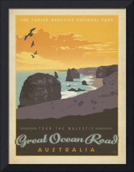 Great Ocean Road, Australia - Retro Travel Poster