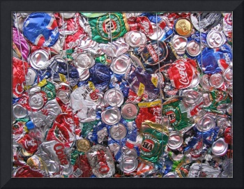 Trashed Cans Painting Over Photo