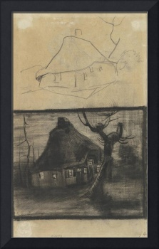 Two Studies of a Cottage Nuenen, April - May 1885