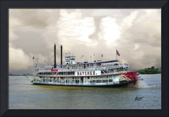 Steamboat Natchez on the Mississippi