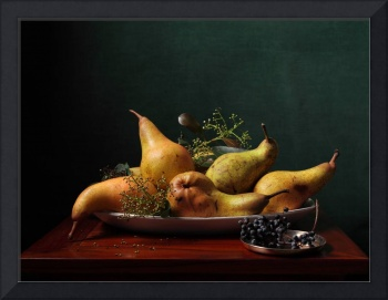 Pears on a platter