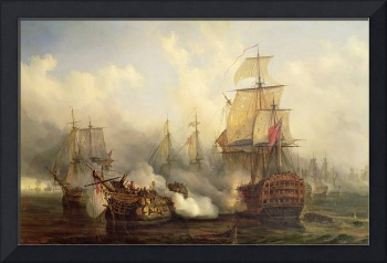The Redoutable at Trafalgar, 21st October 1805