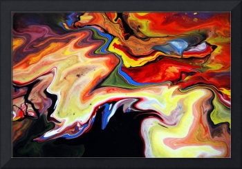 Abstract Liquid Painting