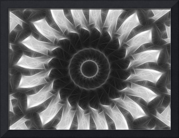 Gray Kaleidoscope Art 8 Highlighted