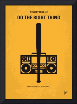 No179 My Do the right thing minimal movie poster