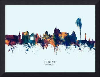 Geneva Switzerland Skyline