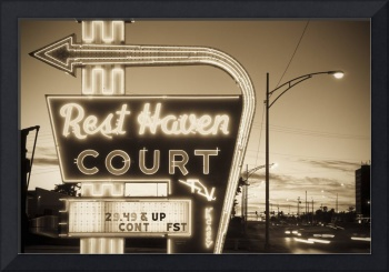 Route 66. Rest Haven Court Motel.