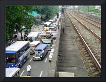 lrt train station, manila, philippines