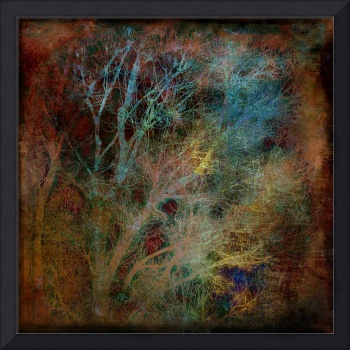 Winter Trees Bronze Abstract