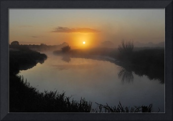 Sunrise & Mist on the River