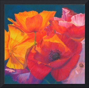Poppy Medley Painting